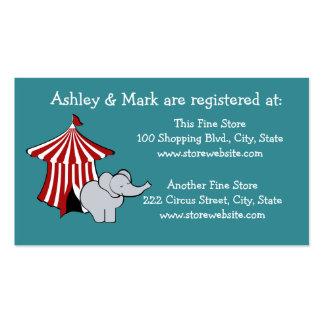Registro de la fiesta de bienvenida al bebé del tarjetas de visita