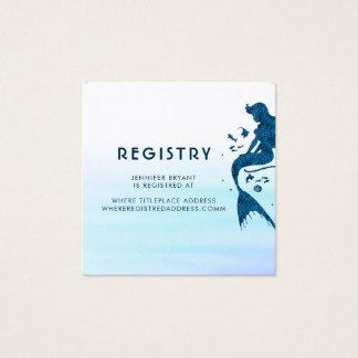 Registro de las acuarelas de la sirena y del tarjeta de visita cuadrada