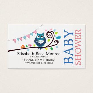 Registro de regalos caprichoso de la fiesta de tarjeta de negocios