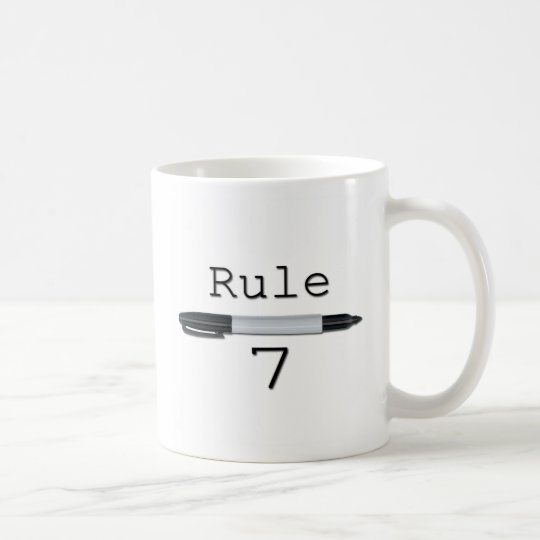 Regla 7 (logotipo) taza de café