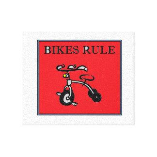 ¡Regla de las bicis! Lienzo