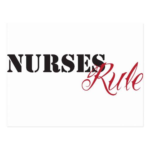 regla de las enfermeras tarjetas postales