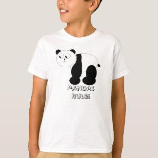 """""""Regla de las pandas!"""" La camiseta del niño"""