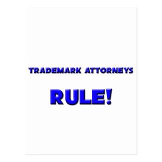 ¡Regla de los abogados de la marca registrada Postales