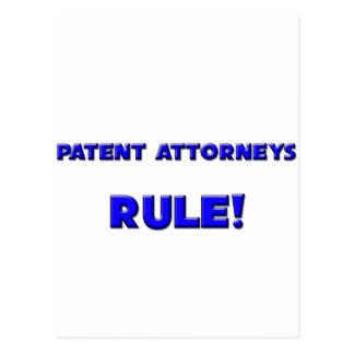 ¡Regla de los abogados de patentes Tarjeta Postal