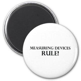 Regla de los aparatos de medición iman de nevera