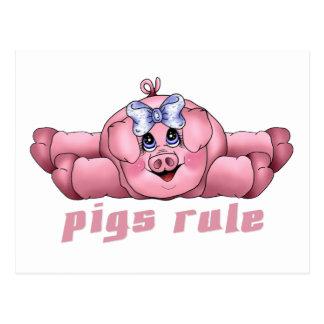 Regla de los cerdos postal