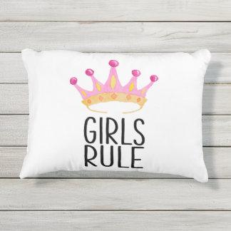 Regla de los chicas cojín de exterior