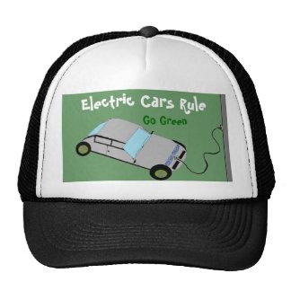 Regla de los coches eléctricos gorros bordados