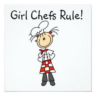 Regla de los cocineros del chica invitación 13,3 cm x 13,3cm