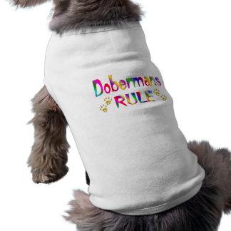 Regla de los Dobermans Camiseta Sin Mangas Para Perro