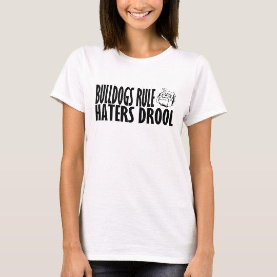Regla de los dogos camiseta