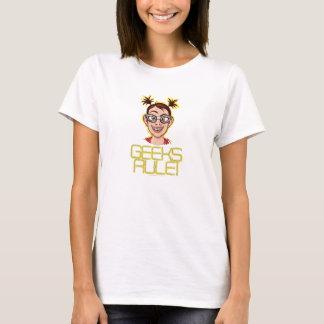 ¡Regla de los frikis! Camiseta del chica del