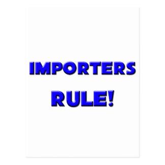 ¡Regla de los importadores! Postal