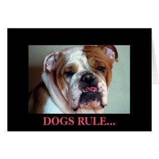 Regla de los perros tarjeta