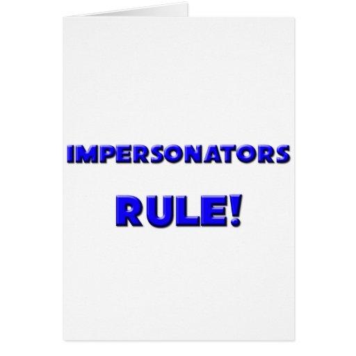 ¡Regla de los personificadores! Felicitaciones