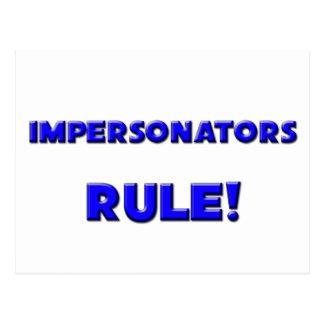 ¡Regla de los personificadores! Tarjetas Postales