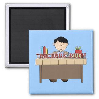 Regla de los profesores - camisetas y regalos masc imán cuadrado