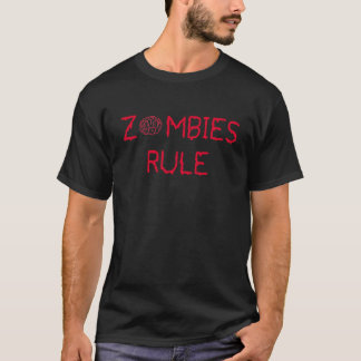 Regla de los zombis camiseta