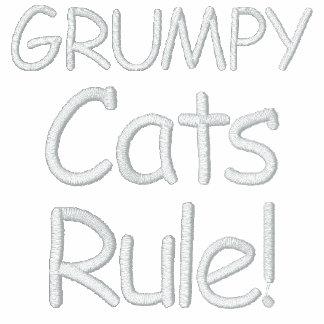 ¡Regla gruñona de los gatos! Chaqueta Bordada De Entrenamiento