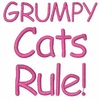 ¡Regla gruñona de los gatos! Sudadera Con Capucha Bordada