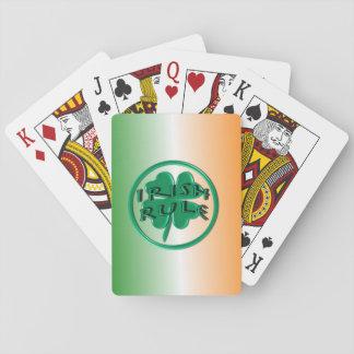 Regla irlandesa - colores y trébol de Irlanda Cartas De Póquer