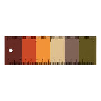 Regla Rayas del color de la caída