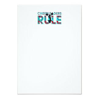 Regla SUPERIOR de las animadoras Invitación 12,7 X 17,8 Cm