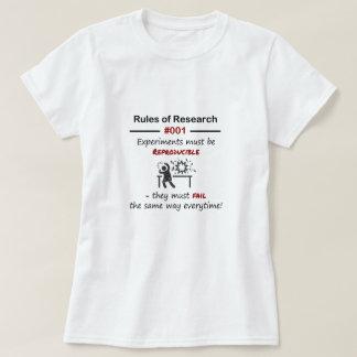 Reglas 001 de la investigación camiseta