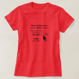 Reglas 003 de la investigación camiseta
