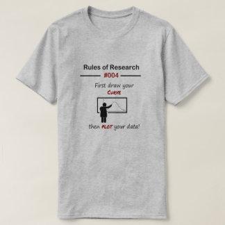 Reglas 004 de la investigación camiseta
