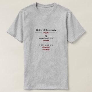 Reglas 006 de la investigación camiseta