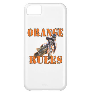 Reglas anaranjadas funda para iPhone 5C
