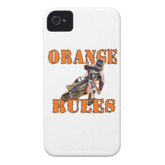 Reglas anaranjadas iPhone 4 funda