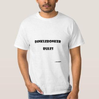 Reglas de Dinklebonker Camiseta