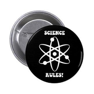 reglas de la ciencia chapa redonda de 5 cm