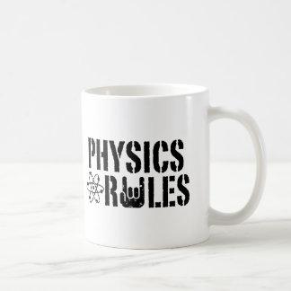 Reglas de la física taza de café