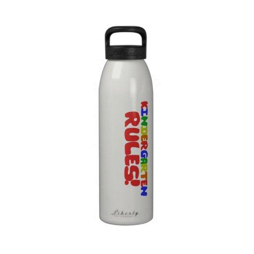 Reglas de la guardería botella de agua reutilizable