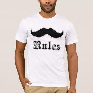 Reglas de los bigotes camiseta
