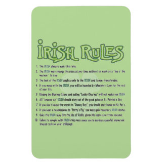 Reglas irlandesas imán