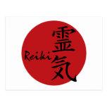 Reiki - rojo postales