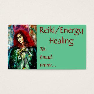 Reiki/tarjeta de visita curativa de la energía tarjeta de negocios