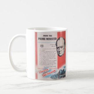 Reimpresión del cartel británico del tiempo de taza de café
