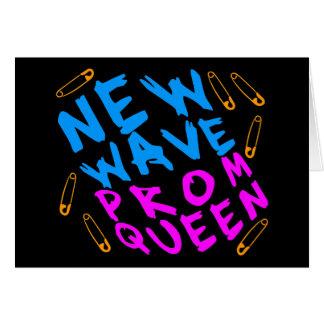 Reina de baile de fin de curso de la nueva ola del tarjeta