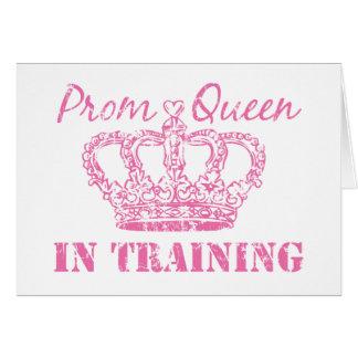 Reina de baile de fin de curso en tarjeta de felic