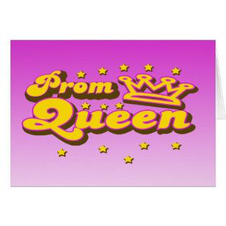 Reina de baile de fin de curso tarjetas
