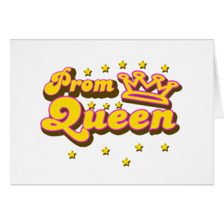 Reina de baile de fin de curso tarjeta de felicitación