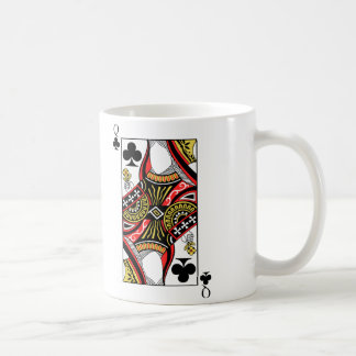 Reina de clubs - añada su imagen taza de café