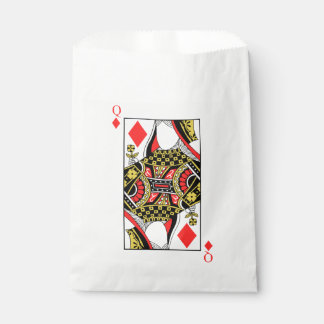 Reina de diamantes - añada su imagen bolsa de papel