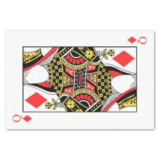 Reina de diamantes - añada su imagen papel de seda